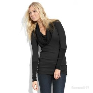 Splendid Thermal Long Sleeve Cowl Top Size Small